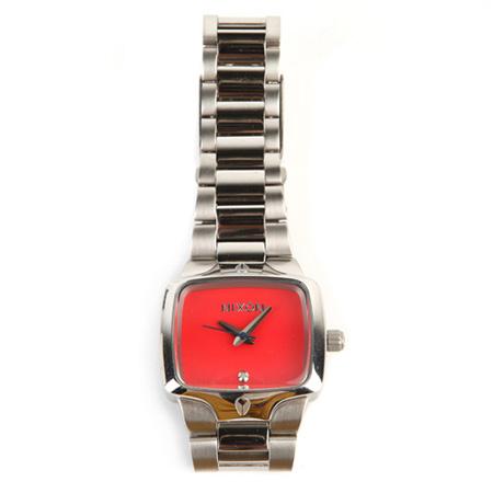 紅色性感錶盤時尚剛鏈腕錶